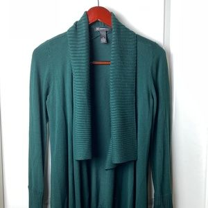INC open front cardigan SZ S Forest Green
